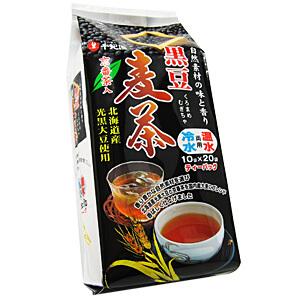 国産六条大麦に、血流を改善する効果があると言われている黒大豆を調合した麦茶です