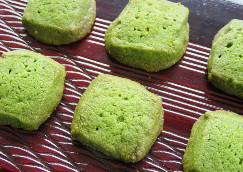 つまみやすいちょうど良いサイズの宇治抹茶クッキー ミニ