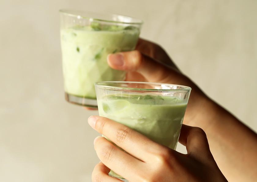 千紀園(せんきえん)の京都 宇治抹茶グリーンティー、スターバックスで飲むような抹茶ドリンクが楽しめます