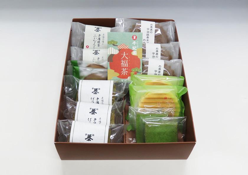 大福茶10g宇治抹茶焼き菓子たくさん詰まったギフト